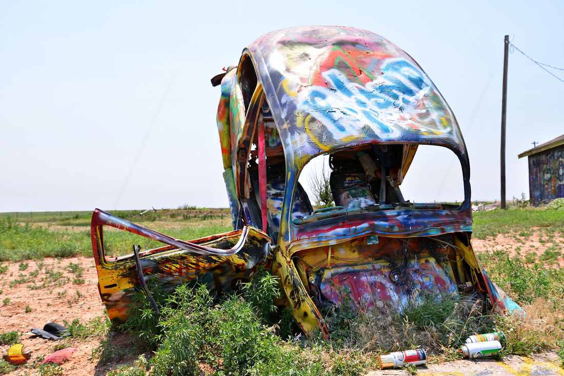 Volkswagen Slug Bug Ranch, Route 66, Texas
