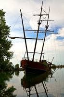 Pirate Ship Shipwreck of La Grande Hermine by QEW in Jordan Harbor, Canada