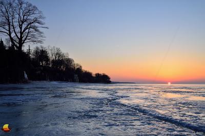 The Crack at Sunset, Frozen Lake Erie, Hamburg - Buffalo, NY
