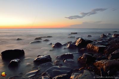 Sunset Light, Lake Erie at Sturgeon Point near Buffalo, New York (NY)