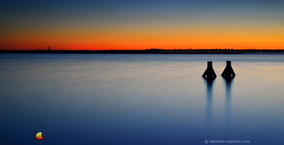 Sunset Glow Over Wilkeson Pointe, minimalism with location signature, Buffalo, New York (NY).