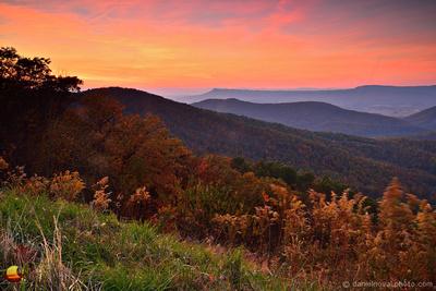 Shenandoah Sunset from Skyline Drive, Virginia (Va).