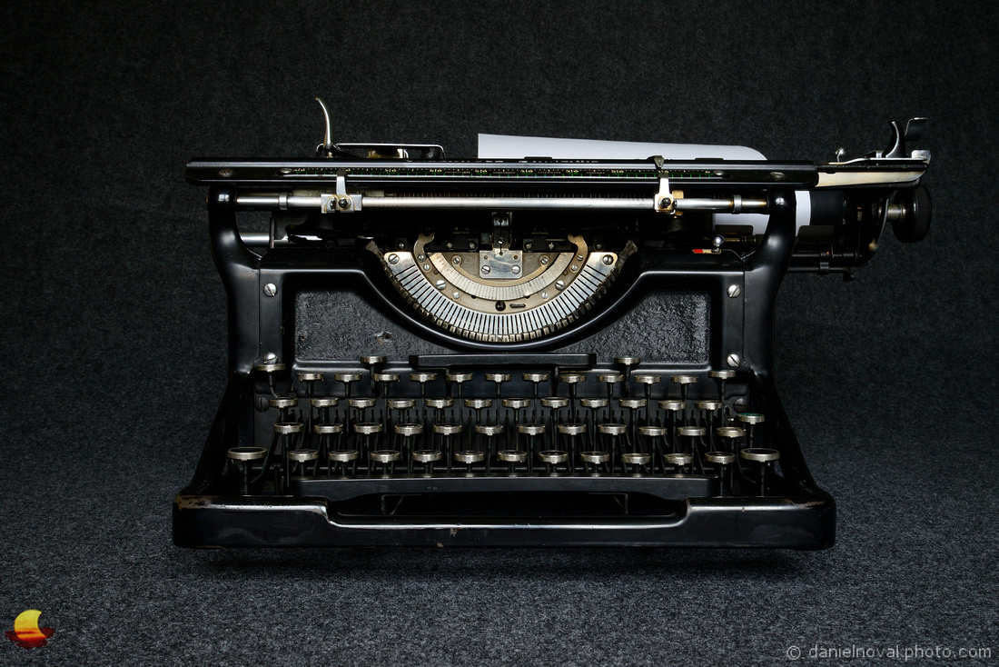 In Front Of A Typewriter